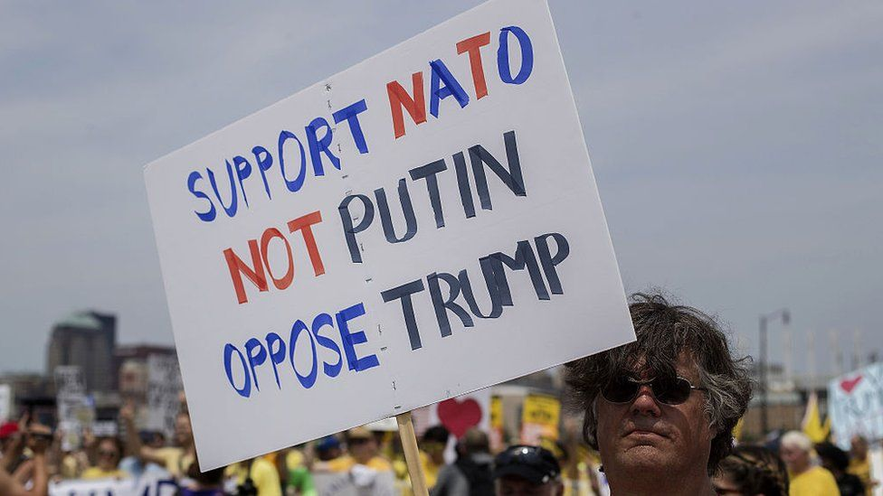 Sign: Support NATO Not Putin Oppose Trump