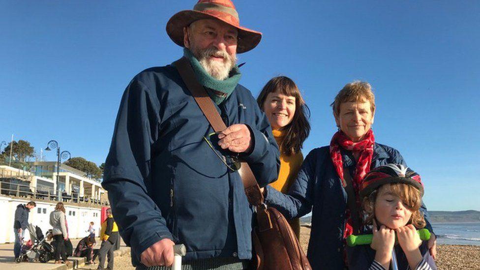 Michael Gerard, daughter Sushila Moles, wife Caroline Moles and grandson Elwood Whetlor