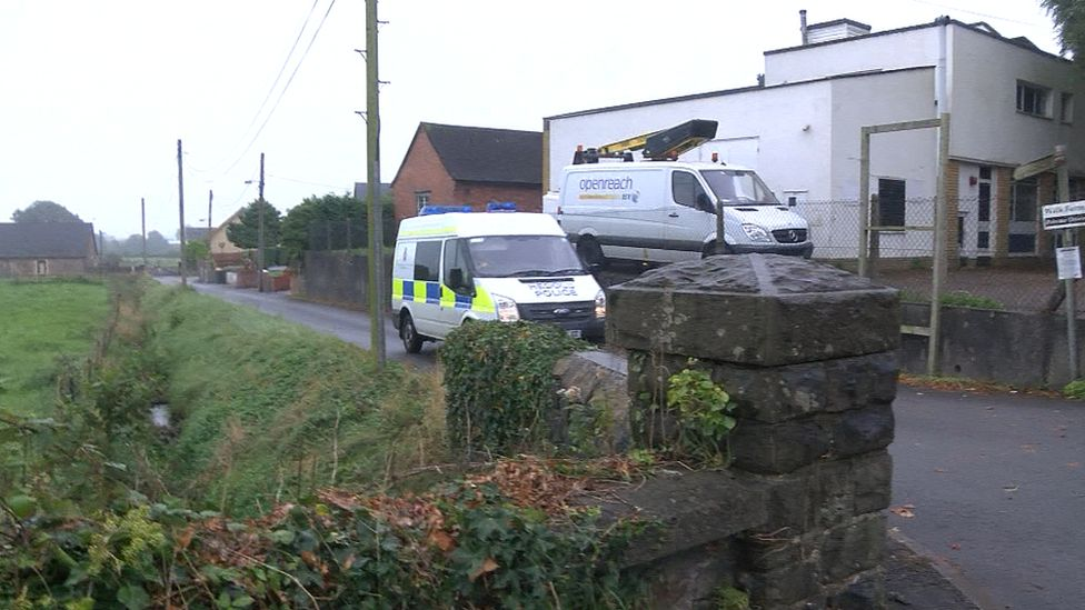 Police were seen leaving a house in Castleton on Wednesday afternoon