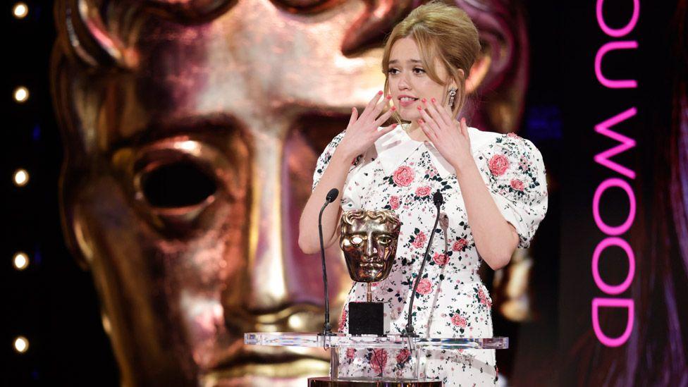 Aimee Lou Wood at the Bafta TV Awards