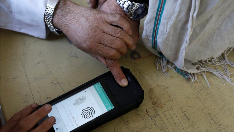biometric identification devices were used in October