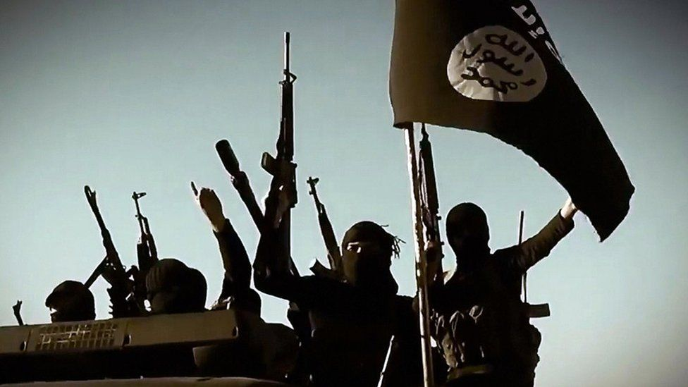 File photo of fighters from the so-called Islamic State group