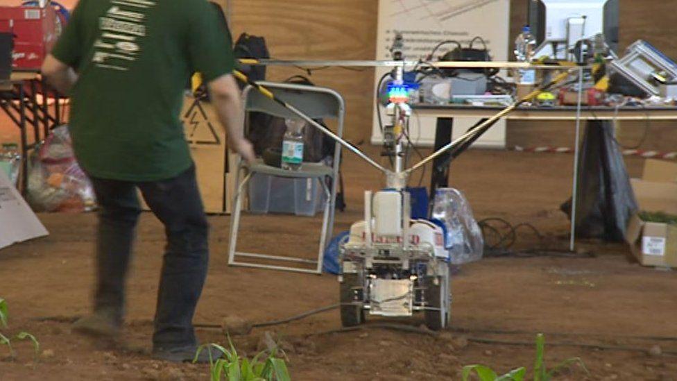 A robot at Harper Adams makes a bid for freedom
