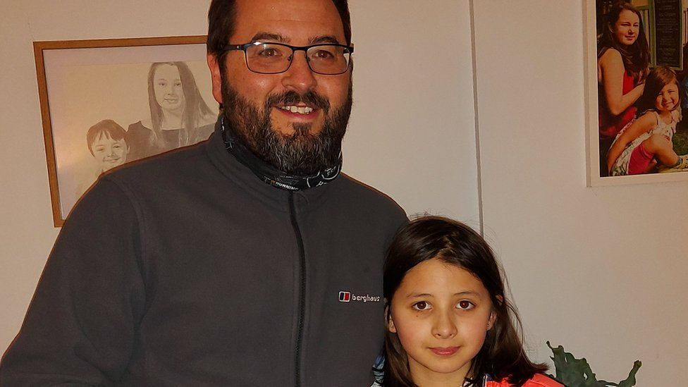 Immy with her father Richard
