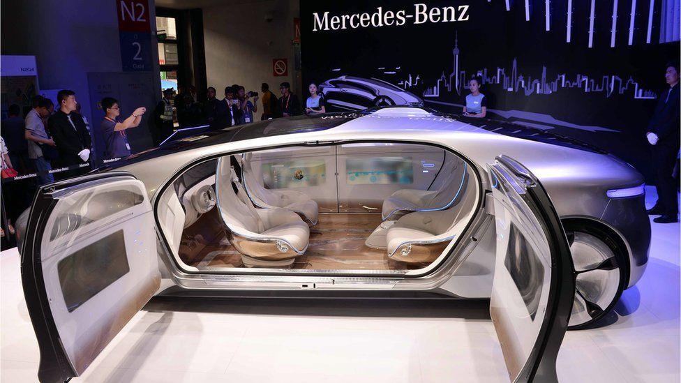 A driverless car from Mercedes-Benz