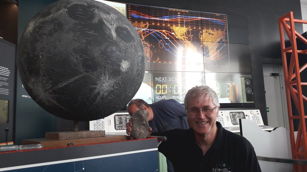 Graham Ensor with his moon rock