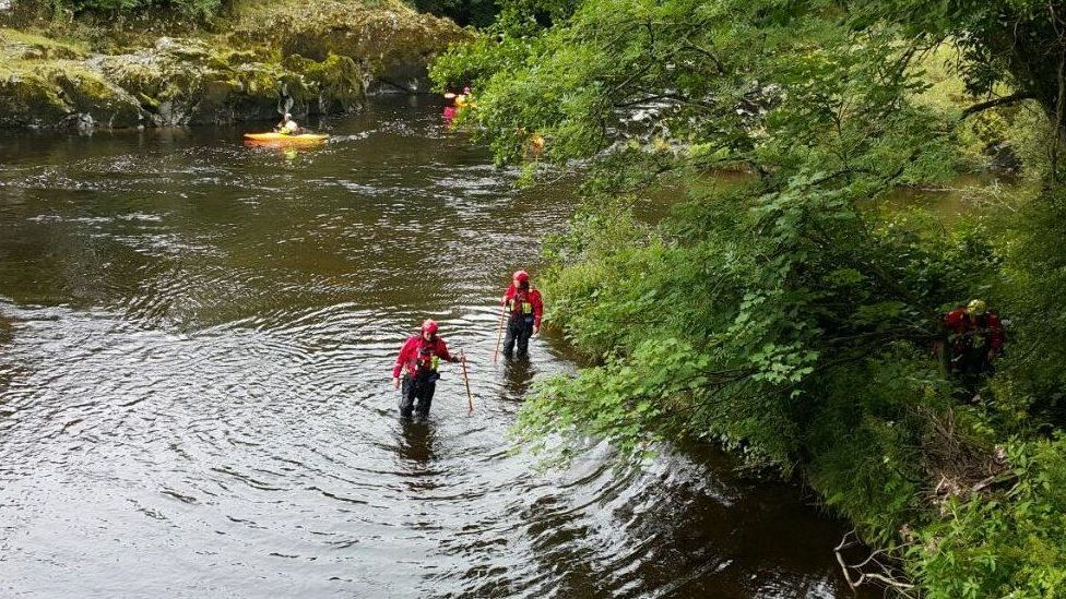 Brecon Mountain Rescue Team are searching the River Wye for Mr Corfield