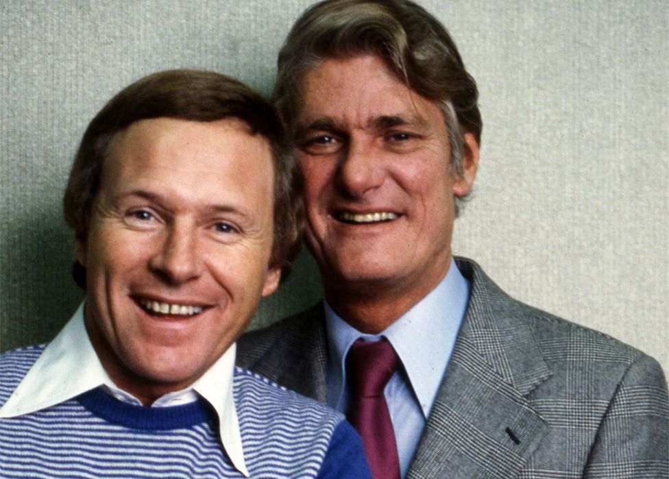 BBC Radio presenters David Hamilton and Pete Murray... in 1980