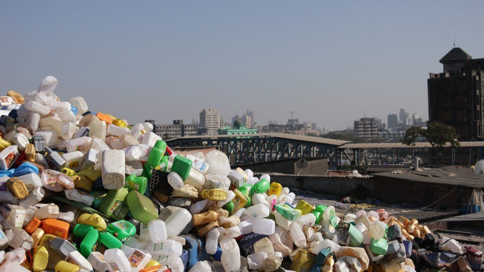 A pile of waste in Mumbai