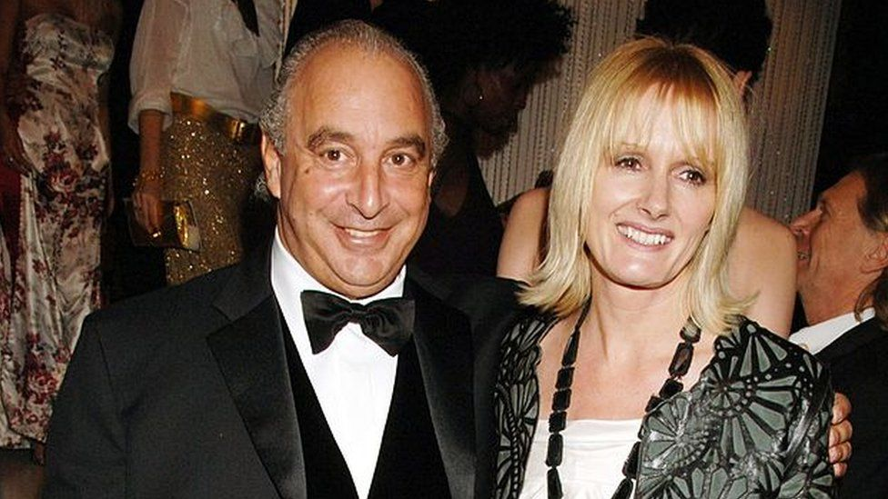 Sir Philip Green and Jane Shepherdson, former director of Topshop, pictured in 2006