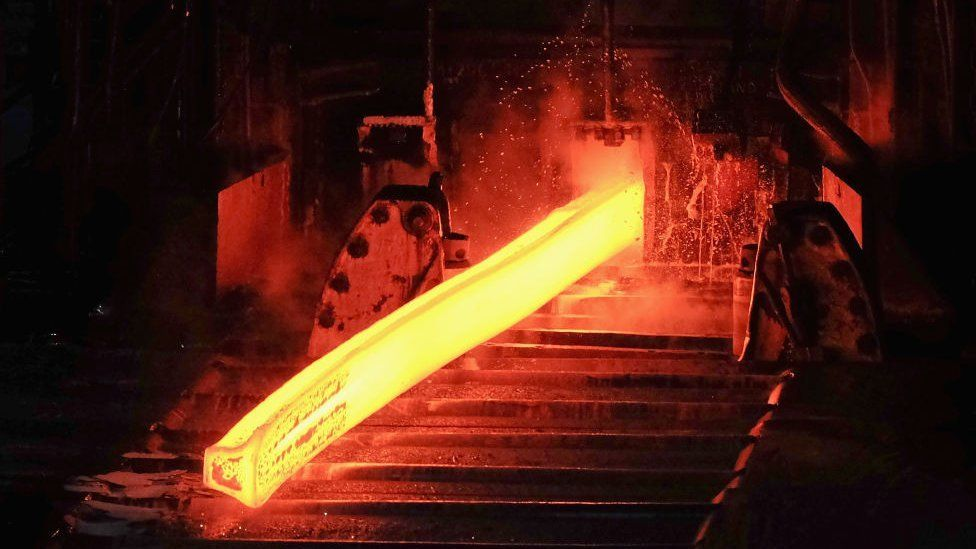 Steel works in the UK