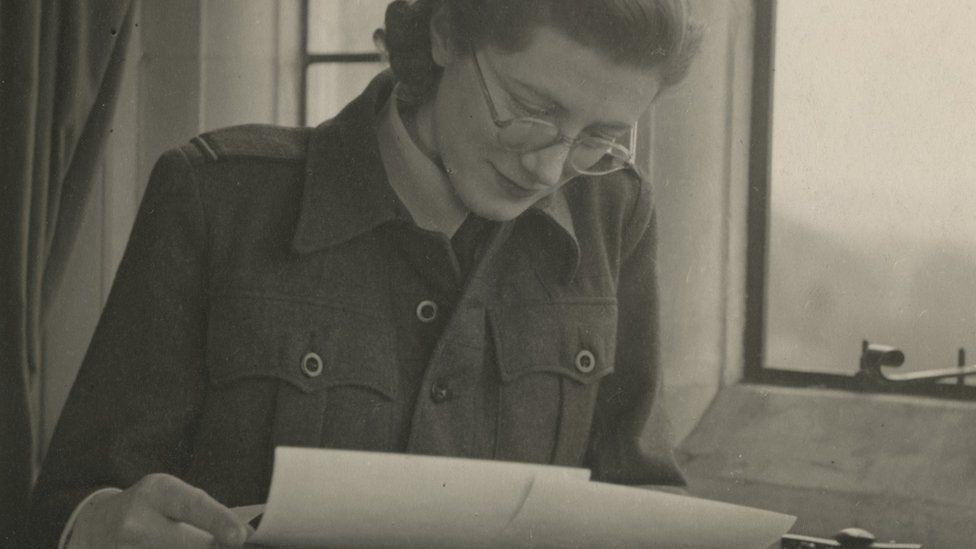 Sarah Churchill in WAAF uniform