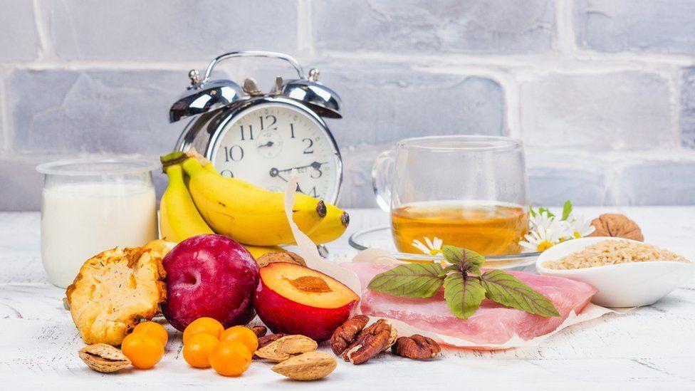 Reloj con alimentos.