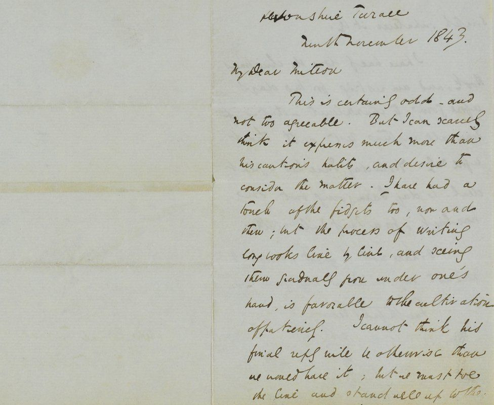Charles Dickens letter