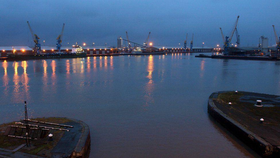 King George Docks in Hull