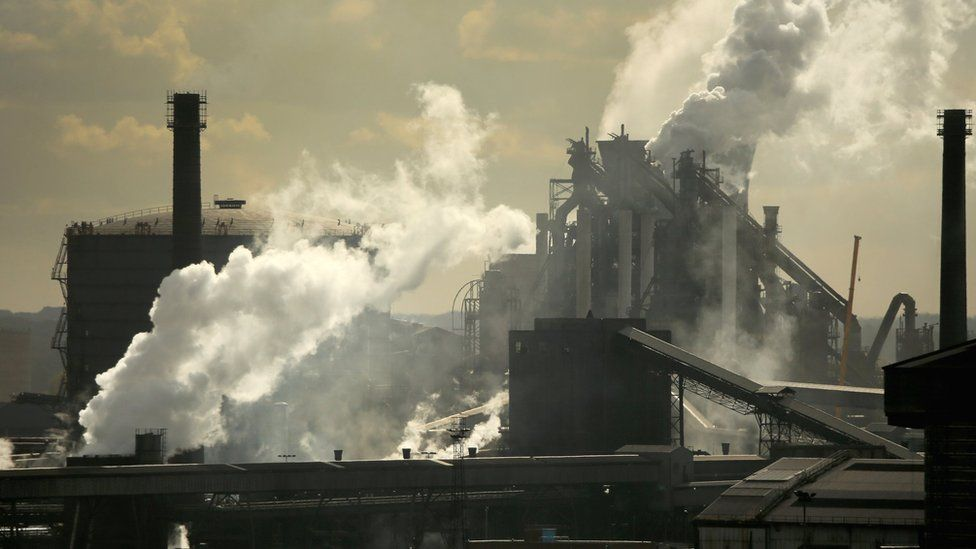 The Tata Steel processing plant at Scunthorpe