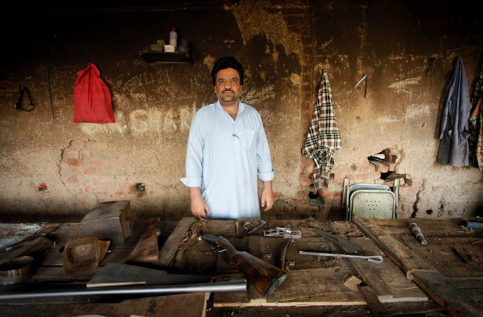 Subhana gun factory owner Zahoor Ahmed Ahangar