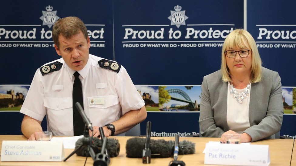 Northumbria Police Chief Constable Steve Ashman and Pat Ritchie, chief executive of Newcastle City Council spoke at a press conference after the convictions