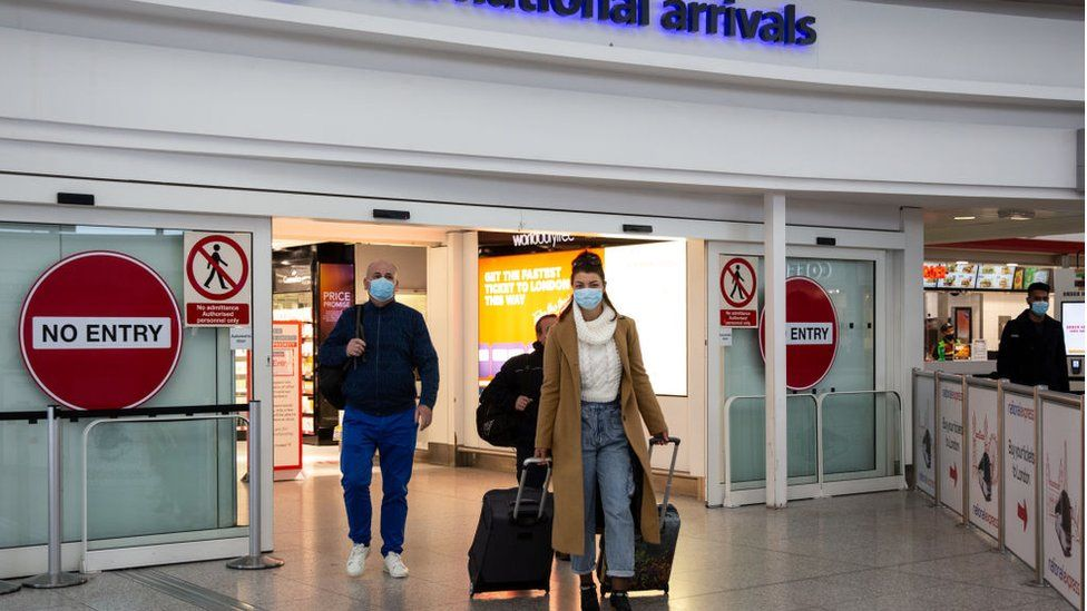 Arrivals at Stansted