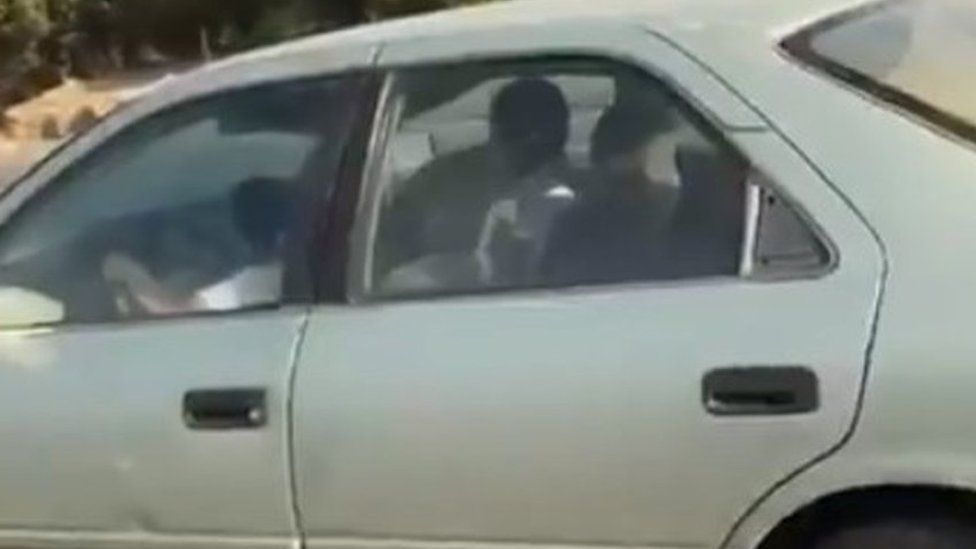 Video posted on Twitter by Jeddah traffic police department showing a boy driving a car on a motorway