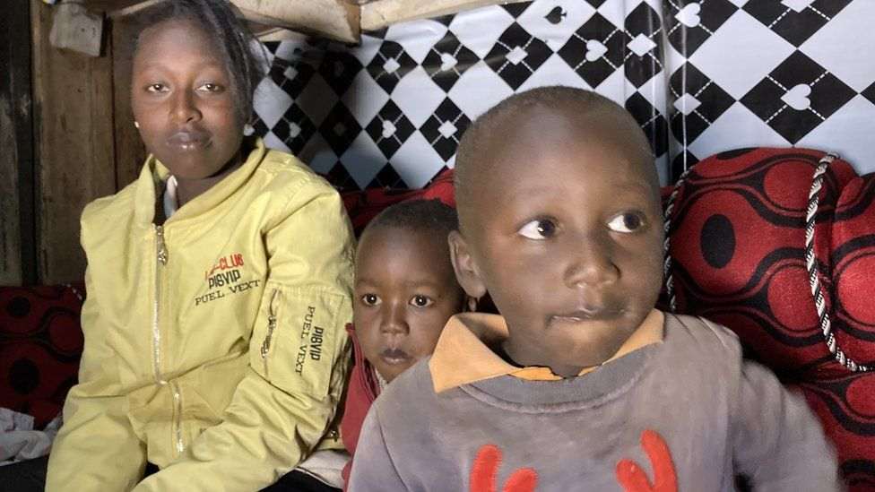 Karen Gatwiri with her two sons