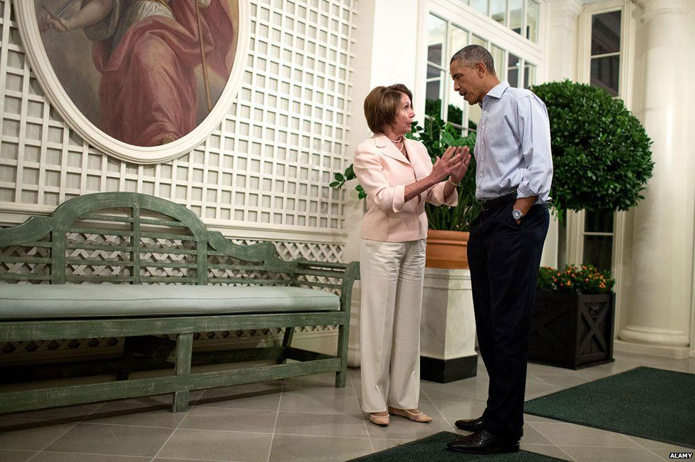 Deep in conversation with Barack Obama in 2014
