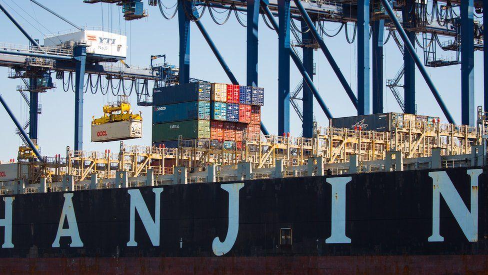 Hanjin container ship