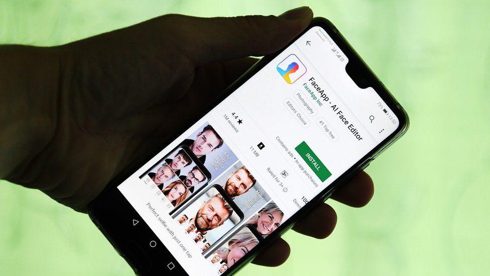 تطبيق فيس آب على متجر تطبيقات غوغل