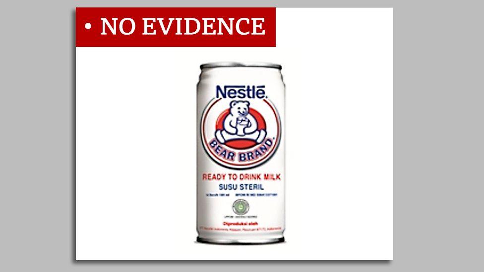 Screengrab of Bear Brand milk product