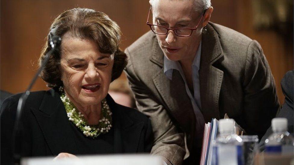 Top Democrat on the Senate Judiciary Committee Dianne Feinstein, 20 September 2018