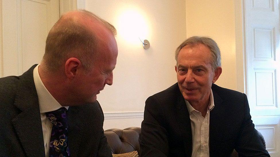 Sean Ley and Tony Blair