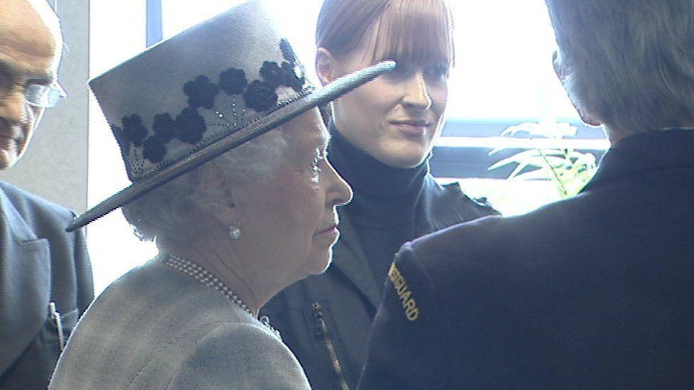 Dara Fitzpatrick is pictured meeting Queen Elizabeth II in May 2014