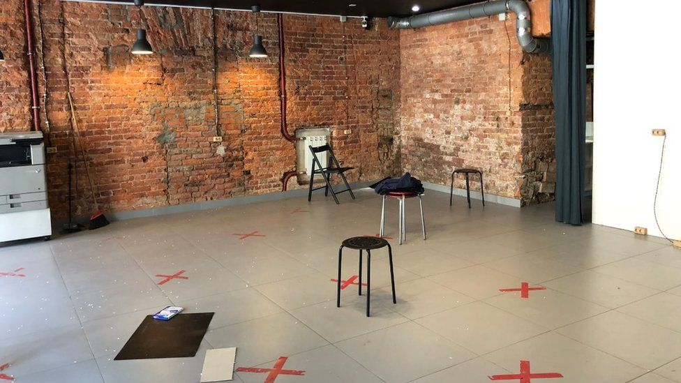The Navalny team's office in St Petersburg is now all but empty