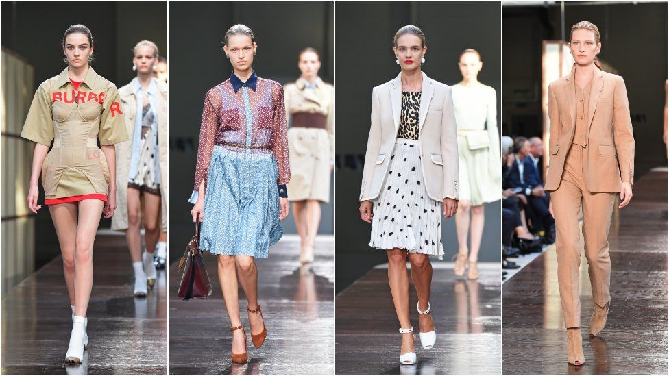 87bccd80c994 Burberry s Riccardo Tisci shows off first collection at LFW - BBC News