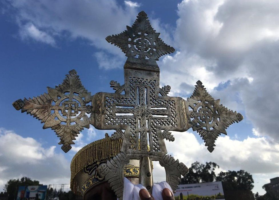 Orthodox cross in picture