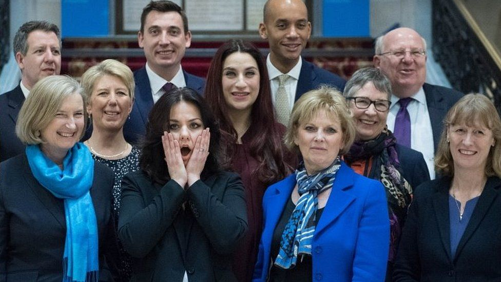 Independent Group MPs, February 2019