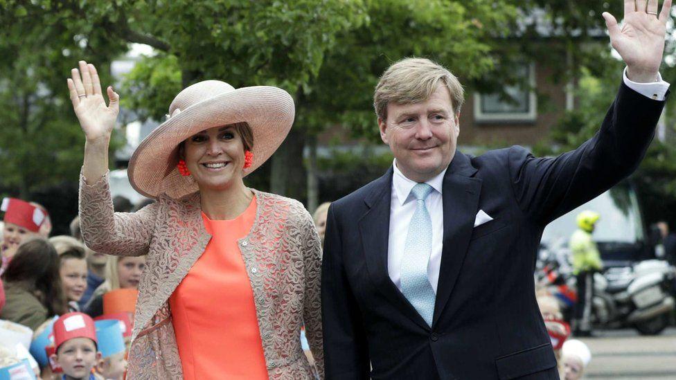 Dutch King Willem-Alexander and Queen Maxima visit Northwest Friesland