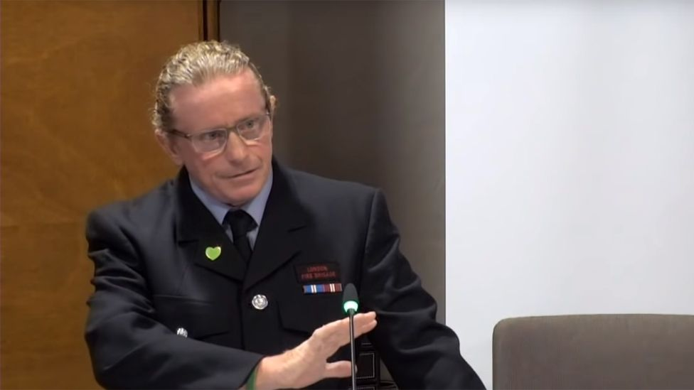 Desmond Murphy giving evidence to the inquiry