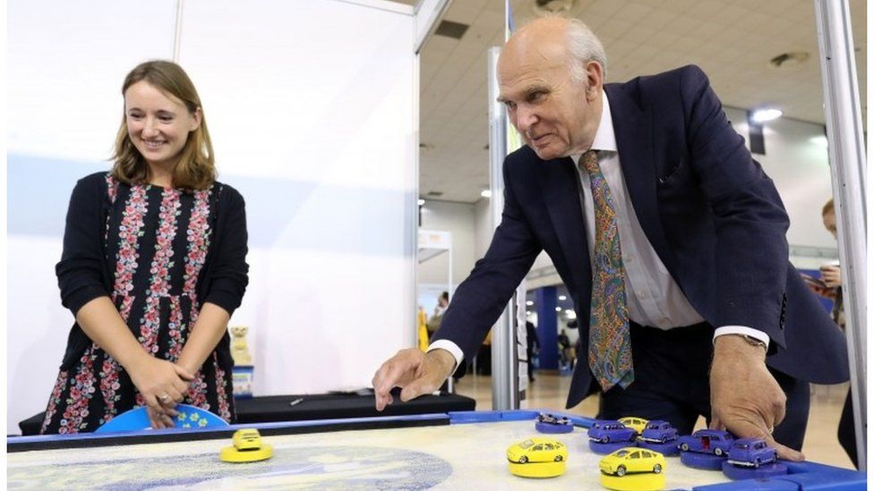 Sir Vince Cable at the Lib Dem conference
