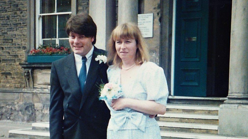 Elaine on her wedding day