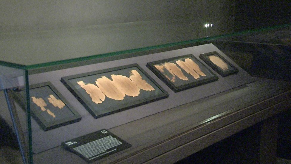 The earliest known extracts on papyrus from the four gospels on display in Dublin