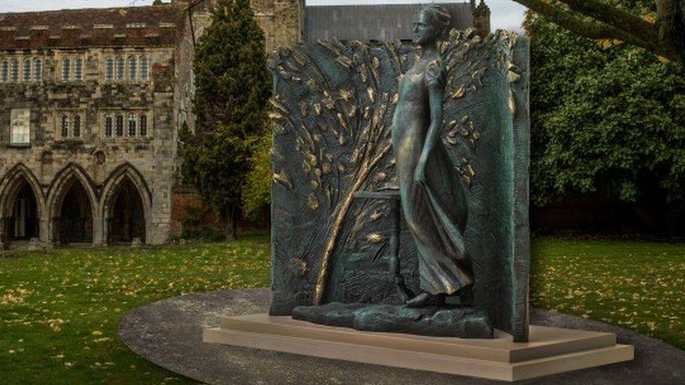 An artist's impression of the planned Jane Austen sculpture