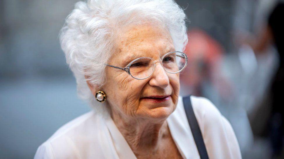 Italian life senator Liliana Segre in Milan, 21 June 2019