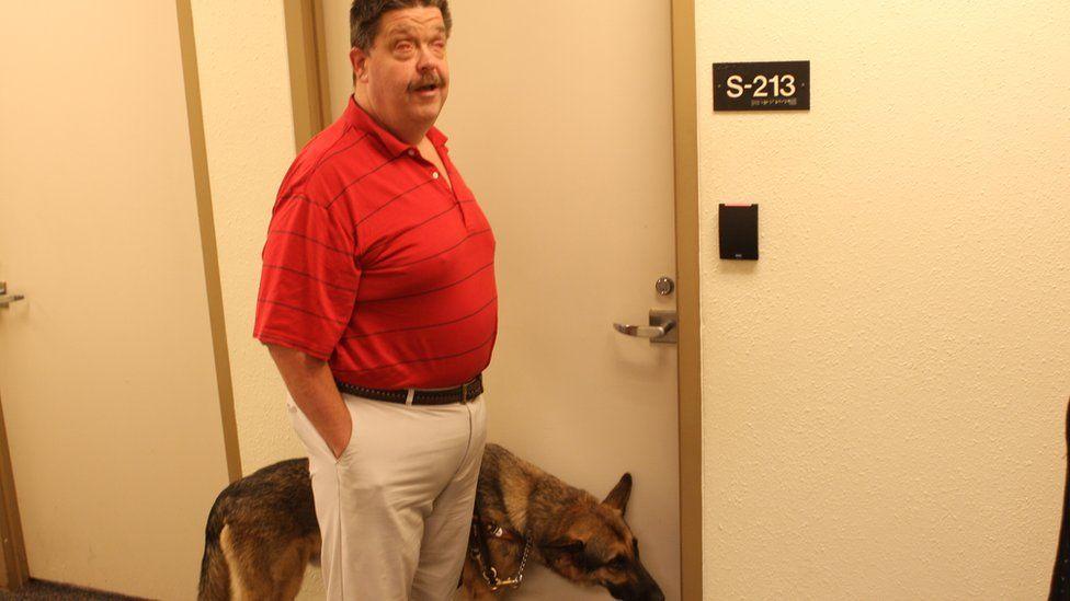 Jeff Molzow at the Criss Cole Rehabilitation Center