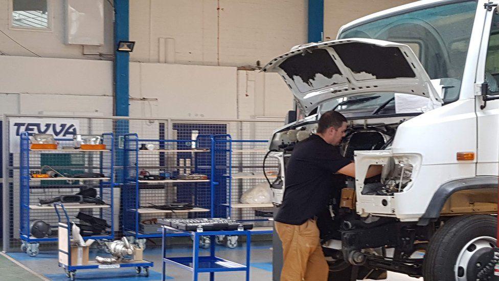 A worker at Tevva Motors