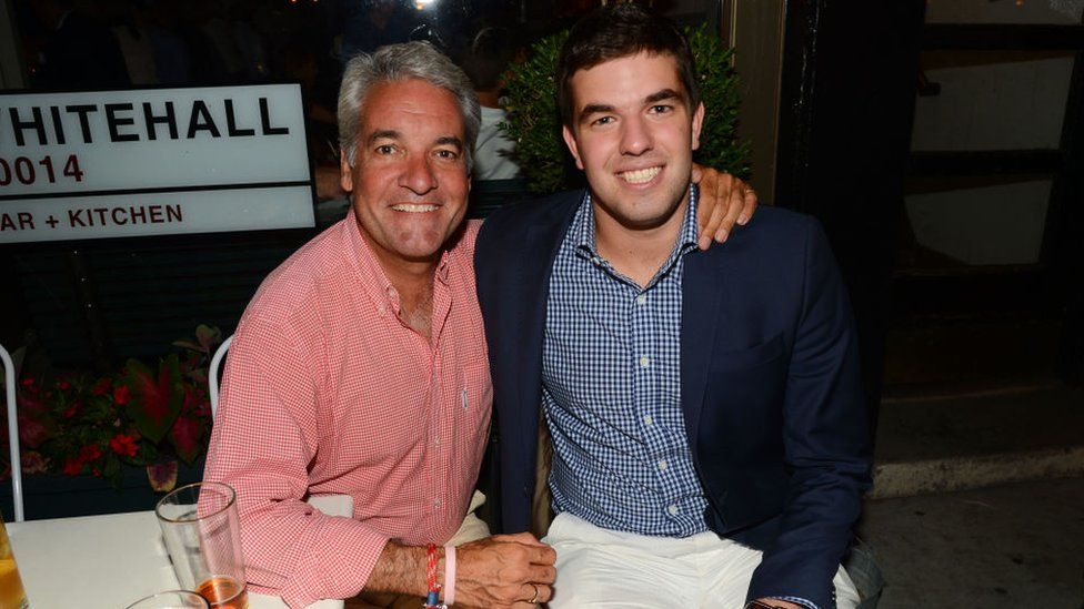 Billy McFarland (R) with former Fyre Festival employee Andy King, who became a memorable character in the Netflix documentary
