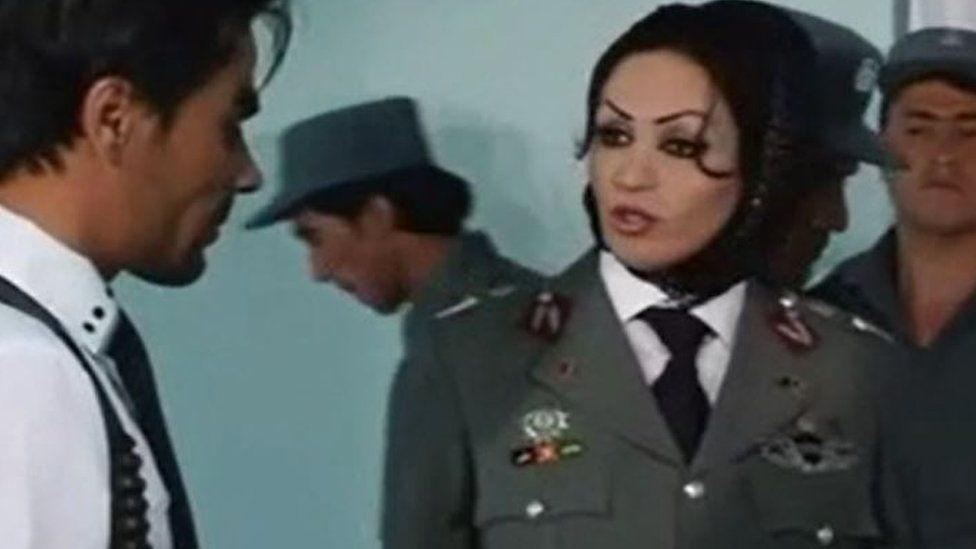 Saba Sahar in a TV show about the Afghan police