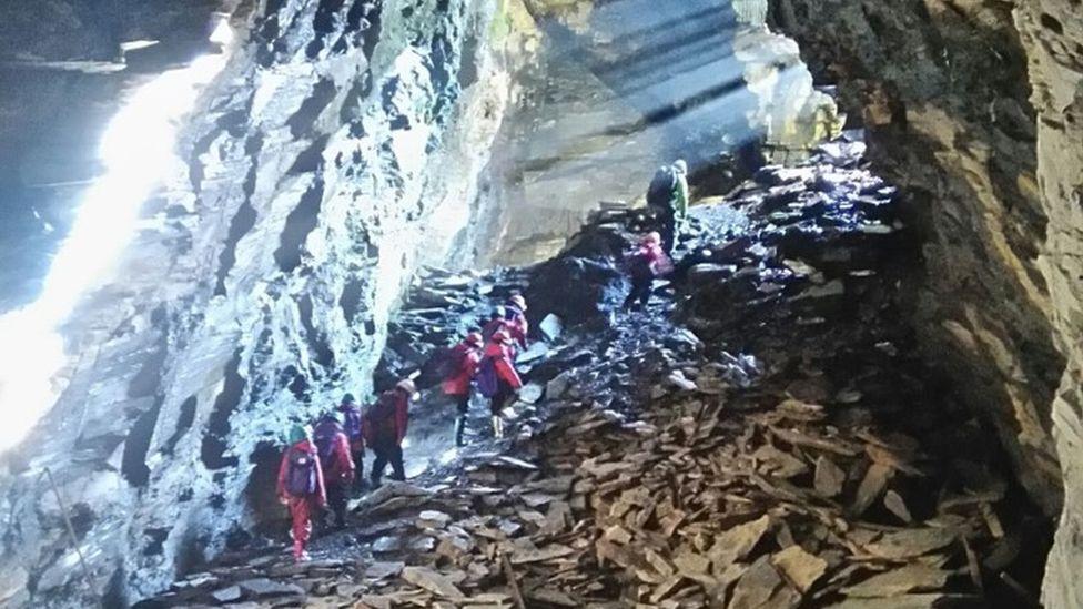 Caving at Rhos y Gwaliau