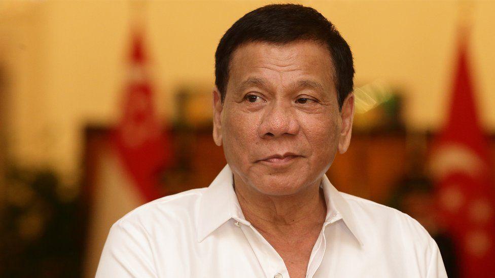 Philippine President Rodrigo Duterte is seen at the Istana on December 15, 2016 in Singapore.