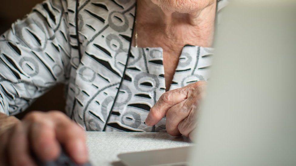 Elderly computer user